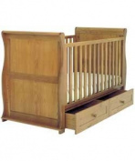 East Coast Langham Oak Cot Bed With Drawer.
