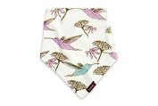 Milkbarn (Zebi Baby) Kerchief Bib - Purple Hummingbird by Milk Barn