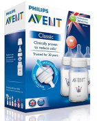 Philips Avent 1m+ classic feeding bottles with anti-colic system triple pack 260ml/9oz bpa free
