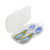 Nuvita 1407 Spoon and Fork with Carry Case