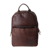 Vintage backpack for men in genuine leather wrinkled Laptop Rucksack DUDU Brown