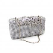 Women Clutch Bag - Ladies Luxury Peacock Decoration Holding Evening Bag Elegant Hard Shell Clutch Purse Handbags with Removable Shoulder Metal Chain
