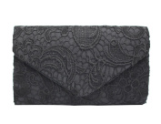 PB-SOAR Women's Ladies Elegant Lace Clutch Evening Bag Bridal Handbag with Shoulder Chain, Perfect for Party Wedding Prom Cocktail, 8 Colours Available