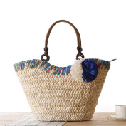 FAIRYSAN Women Straw Shoulder Bag Woven Tote Bag Wedding Basket Shopping Bag Beach Bag Extra Large