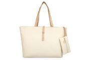 Drasawee Large Women Commuter Belt Buckle Shoulder Bag PU Leather Colourful Fashion Shopping Handbags White
