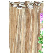 Forever Young Clip In Remy Human Hair Extensions Half Head Caramel Blonde Mix 41cm Length