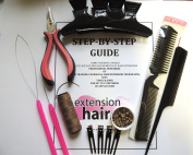 LA Weave Hair Extension kit with step by step training manual
