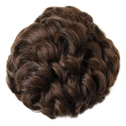 PRETTYSHOP BUN Up Do Hair Piece Hair Ribbon Ponytail Extensions Draw String Scrunchie Wavy Messy Voluminous brown mix # 2 / 30B D102