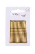 20pc Standard 4.5cm Kirby Grips Hair Bobby Pins Clips Blonde