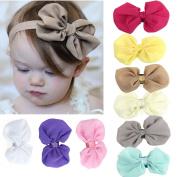 Minetom 9PCS Babys Girls Head Wear Chiffon Flower Elastic Headband Photography Headbands Hairband