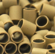Mini Copper Tubes Links for use with Tiny I-tip Hair Extensions Colour: Blonde | Size
