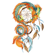 COKOHAPPY Large Temporary Tattoo , Indian Dream-Catcher Feather Dragon Tattoo , Sexy Body-Art Long-Lasting for Men Women