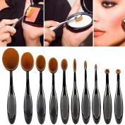 Tonsee 10pcs Mini Toothbrush Shaped Foundation Power Makeup Oval Cream Puff Brushes Set