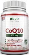 Nu U Nutrition CoQ10 100mg, 120 Coenzyme Q10 Capsules