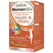 Natures Aid 50 Plus Multi-Vitamins and Minerals Capsules for Women - Pack of 30
