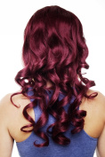 WIG ME UP ® Hairpiece Halfwig (half wig) 7 Microclip Clip-In Extension curly curls very long & full aubergine red 50 cm H9503-39