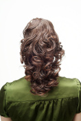 WIG ME UP ® - Hairpiece Ponytail with Claw Clamp/Clip long very full and voluminous curly curls brown mix chestnut NC2410-2T30 35 cm