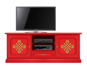 "Red tv cabinet ""Modena Gold"""