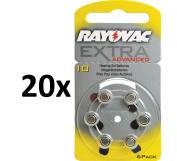 120 NR 10 RAYOVAC Extra Advanced Hearing Aid Batteries Zinc Air P10 PR70 ZL4)