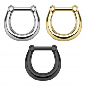 Richbest new style surgical steel fake nose ring septum rings clicker body piercing jewellery