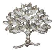 Silver. Crystal Bejewelled Tree of Life Brooch