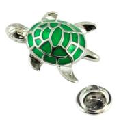 Green Turtle Lapel Pin Badge