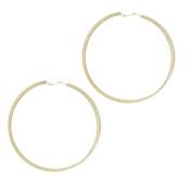 Mytoptrendz® Womens Girls Extra Large Jumbo 100mm Oversized Triple Row Hoop Earrings In Silver Tone
