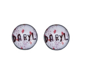 Daryl. The Walking Dead. Zombie 8mm Stainless Steel Stud Earrings