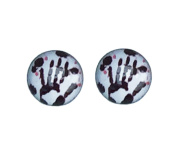 Zombie Hand Print. 8mm Stainless Steel Stud Earrings