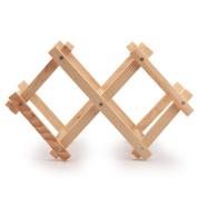 Andux Wooden Wine Rack Bottle Holder Kitchen Organiser Display Shelf Wine Rack-- HJJ-01