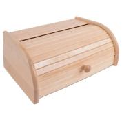 Beech wood . roll top front kitchen bread bin
