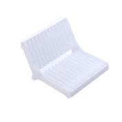 LEORX Folding Plastic Dish Drying Rack , Utensil Drainer