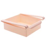 Fridge Storage Sliding Drawer Freezer Storage Shelf Multipurpose Refrigerator Organiser Space Saver Shelf -Pink