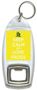 Keep Calm And Love Frogs - Bottle Opener Keyring