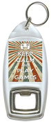 Keep Calm And Play Games - Bottle Opener Keyring
