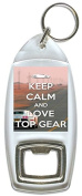 Keep Calm And Love Top Gear - Inspired Bottle Opener Keyring