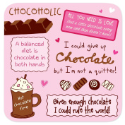 "Coasters - Perfect Gifts For Him & Her ""Chocolate"""