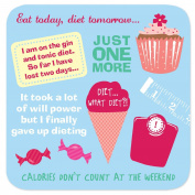 "Coasters - Perfect Gifts For Him & Her ""Dieting"""