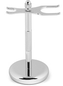 Magnus Chrome Razor and Brush Stand - The Perfect Shaving Razor and Brush Stand to Keep Your Brush Clean and Dry,  .  d
