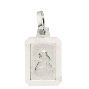 Basic 22205Silver Children's Guardian Angel Pendant - 925 Sterling Silver
