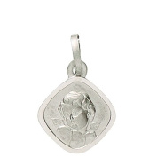 Basic 22213Silver Children's Guardian Angel Pendant - 925 Sterling Silver