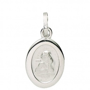 Basic 22211Silver Children's Guardian Angel Pendant - 925 Sterling Silver