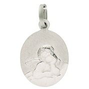 Basic 22208Silver Children's Guardian Angel Pendant - 925 Sterling Silver