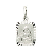 Basic 22221Silver Children's Guardian Angel Pendant - 925 Sterling Silver