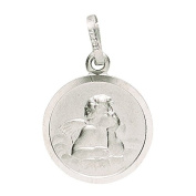 Basic 22228Silver Children's Guardian Angel Pendant - 925 Sterling Silver