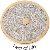 Jewelz QMOA - 05L-G large Coin Pendant Stainless Steel with. Crystallised ELEMENTS