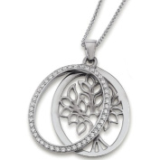 21EX905 Women's Pendant Tree of Life 925 Sterling Silver / White Zirconia