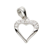 Basic 21,1149S Silver Women's Pendant Heart 925 Sterling Silver / White Zirconia