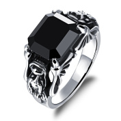 Fate Love Jewellery Vampire Diaries Inspired 12MM Square Cubic Zirconia Diamond Inlay Stainless Steel Ring for Men