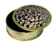 Round Trinket Box with Gemstones